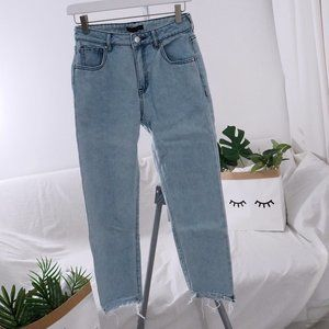 Kendall And Kylie straight leg jeans